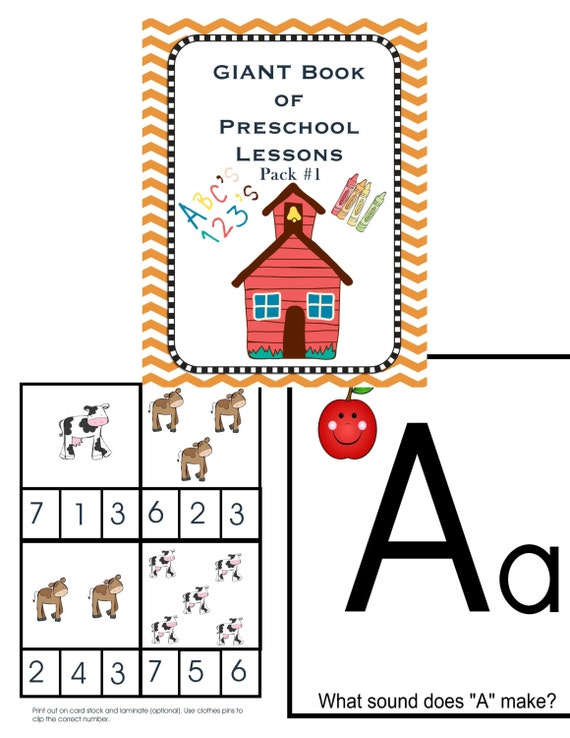 Preschool Pack 1 - Homeschool - Learning Pack - School Printables - File Folder Game