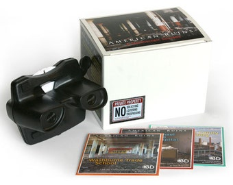 View-Master Boxed Set - American Ruins 3 reel tour of picturesque industrial decay