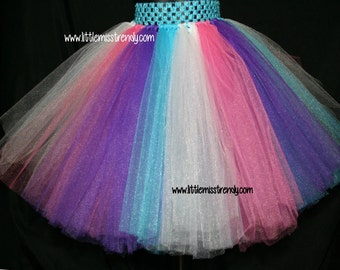 Rainbow Tutu Skirt, Unicorn Tutu Skirt, Girls Tutu, Toddler Tutu, Pink Purple Tutu, Troll Tutu, Poppy Tutu, Colorful Tutu, Costumes. Tutus