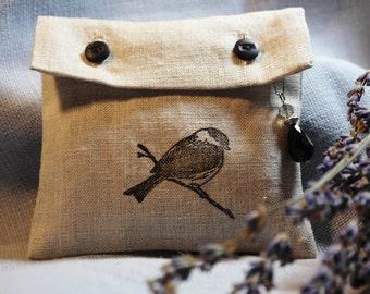 Linen Lavender Sachet - Bird Design