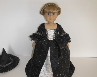 1770's Marie Antoinette Style Witches Costume for Your American Girl Doll