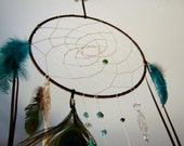Peacock Feather Dream Catcher - WoodlandMarket