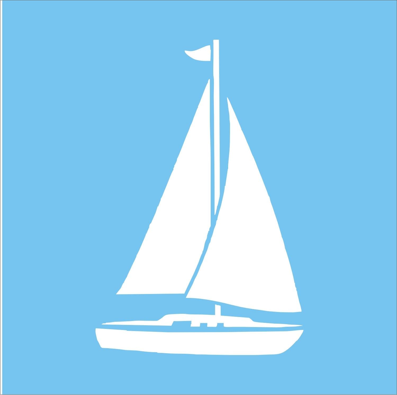 Beach Stencils Sail Boat 5x5 for Beach signs by ...