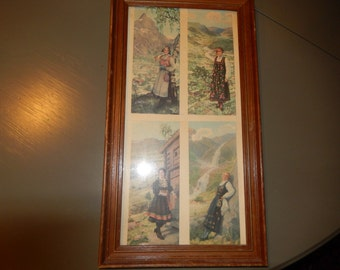 VINTAGE PRINT of Women from Other Lands
