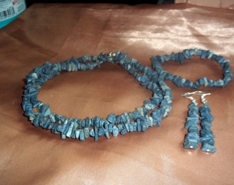 Blue Fossil Coral Nugget Set.