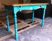 Reclaimed Vintage Shabby Chic (Expandable) Kitchen Table - Adorablie