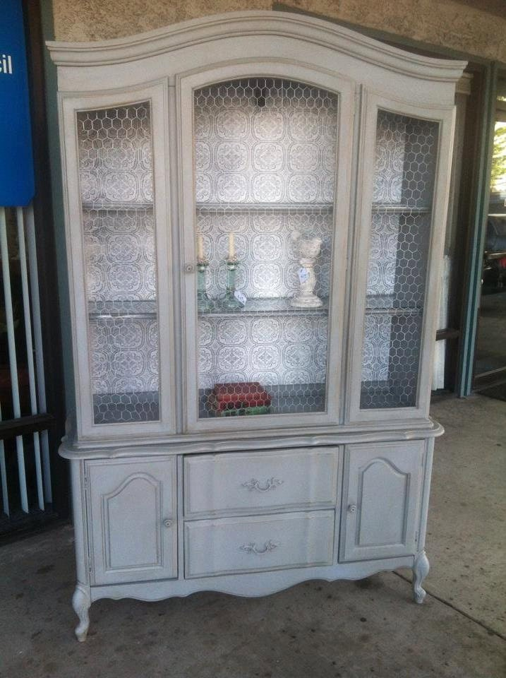 for agnes vintage french provincial buffet and hutch    china
