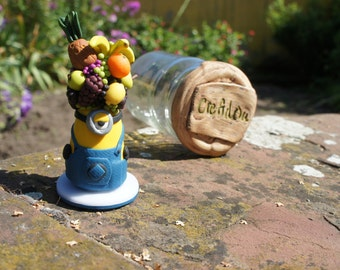 Minion: Vinod disguised as character, polymer clay