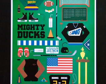 Mighty Ducks - Movie Parts Poster