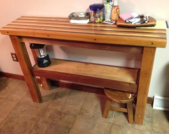 butcher block table narrow table hall table hallway table kitchen table