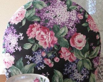Tea Cozy Purple Hydrangea Print Insulated with Insul-Bright and Warm Fleece