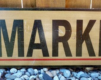 Vintage Farmer's Market Sign - Large