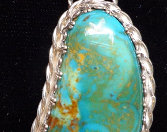 Custom One of a kind Sterling Silver Pendant setting with your stone or one you buy from me
