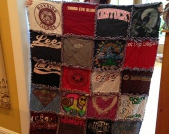 T Shirt Quilt With Fleece Backing