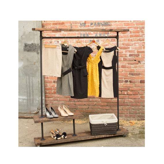 irh half shelf industrial clothes rack by maverickindustrial. Black Bedroom Furniture Sets. Home Design Ideas