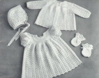Free Knitting Patterns For Babies Layettes : Layette patterns Etsy