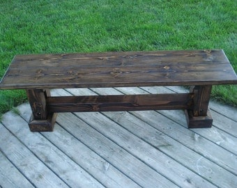 Wooden Bench/Rustic/Sturdy/Seating/Dining Bench