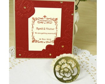 vintage rose stencial for Paper Crafting Brass embossing stencil