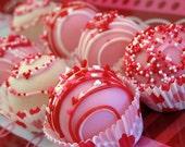 Valentine's Day Cake Balls, Cake Pops, Valentine's Day Gift, Candy