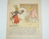 Uncle Wiggily Illustration, Nursery Picture, Vintage Illustration