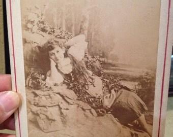 Antique Cabinet Photograph of Estelle Clayton