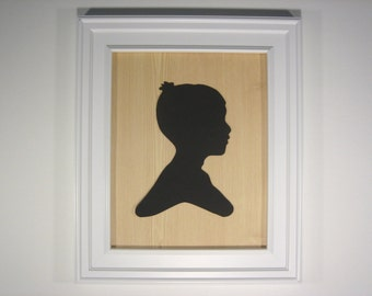 Custom Silhouette. This Wood Grain background nicely complements both modern and midcentury decor.