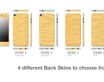 iPod Touch 5th Gen Full Body Wrap DECAL Sticker Skin Kit 3M Wood series by Stickerboy-Set 1