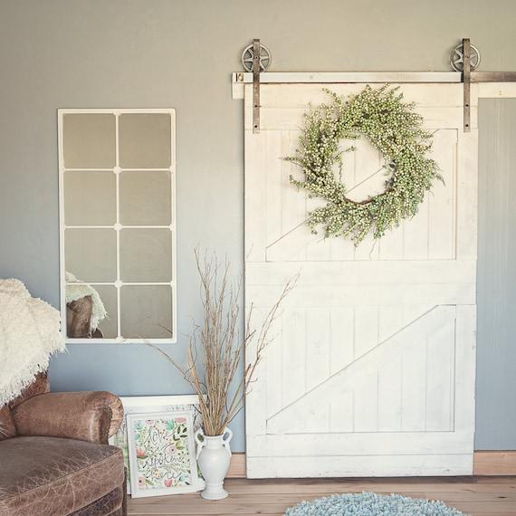 Vintage Industrial Sliding Doors : Vintage industrial spoked european sliding barn door closet