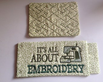 It's All About Embroidery Mug Rug Set