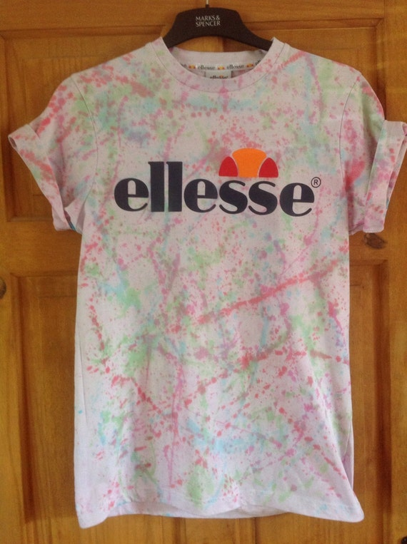 Ellesse vintage t shirt tie dye acid wash by vintagecorpaul for Custom acid wash t shirts