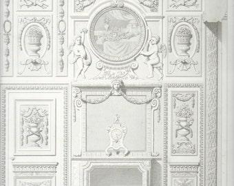 French Architectural Print,  Hotel de Lauzun, Louis XIV, Paris 1863