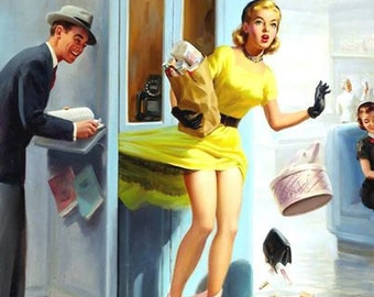 1950's Vintage Pin-Up Girl Poster 16