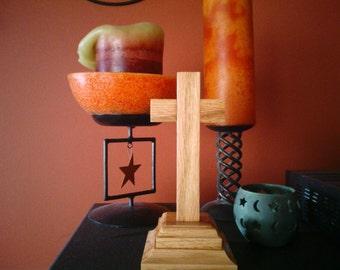 Wood Oak Cross.