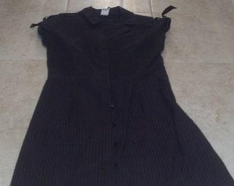 Super Low Fat Circa 1990s Pinstripe Dress Size XS Goth Rockabilly Pin Up Punk Hot Topic Style Like New