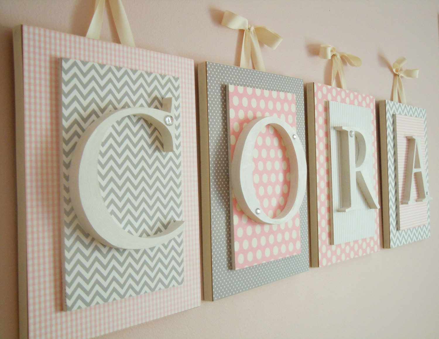 Nursery Letters Pink And Gray Nursery Letters Pink And Gray