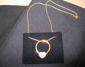 "Avon ""HEART RING"" Necklace"