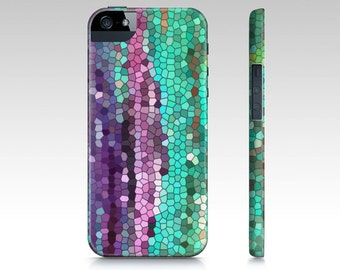 Purple and Teal Mosaic Abstract Phone Case, iphone 7, 7 plus 6, 6 plus iphone 5, Samsung s6, colorful, popular, cases,  gadgets, tech