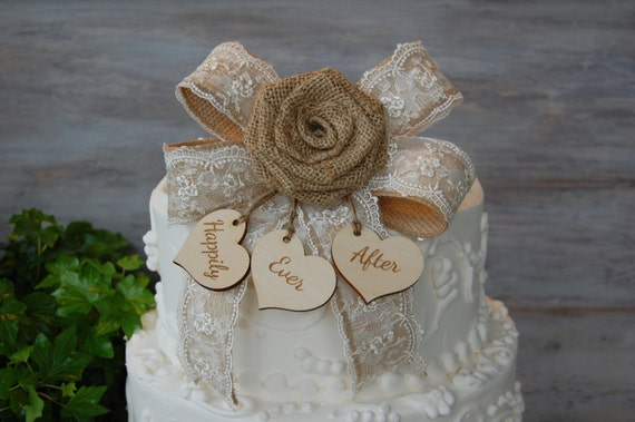 country chic wedding cake toppers rustic cake topper burlap cake topper shabby chic cake 12978