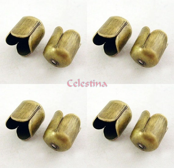 50x Gold filled 3D Metal Flower Spacer Bead Caps DIY Jewelry Crafts 8mm