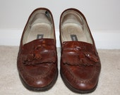 BALLY Brown Leather Loafers size 39 1/2