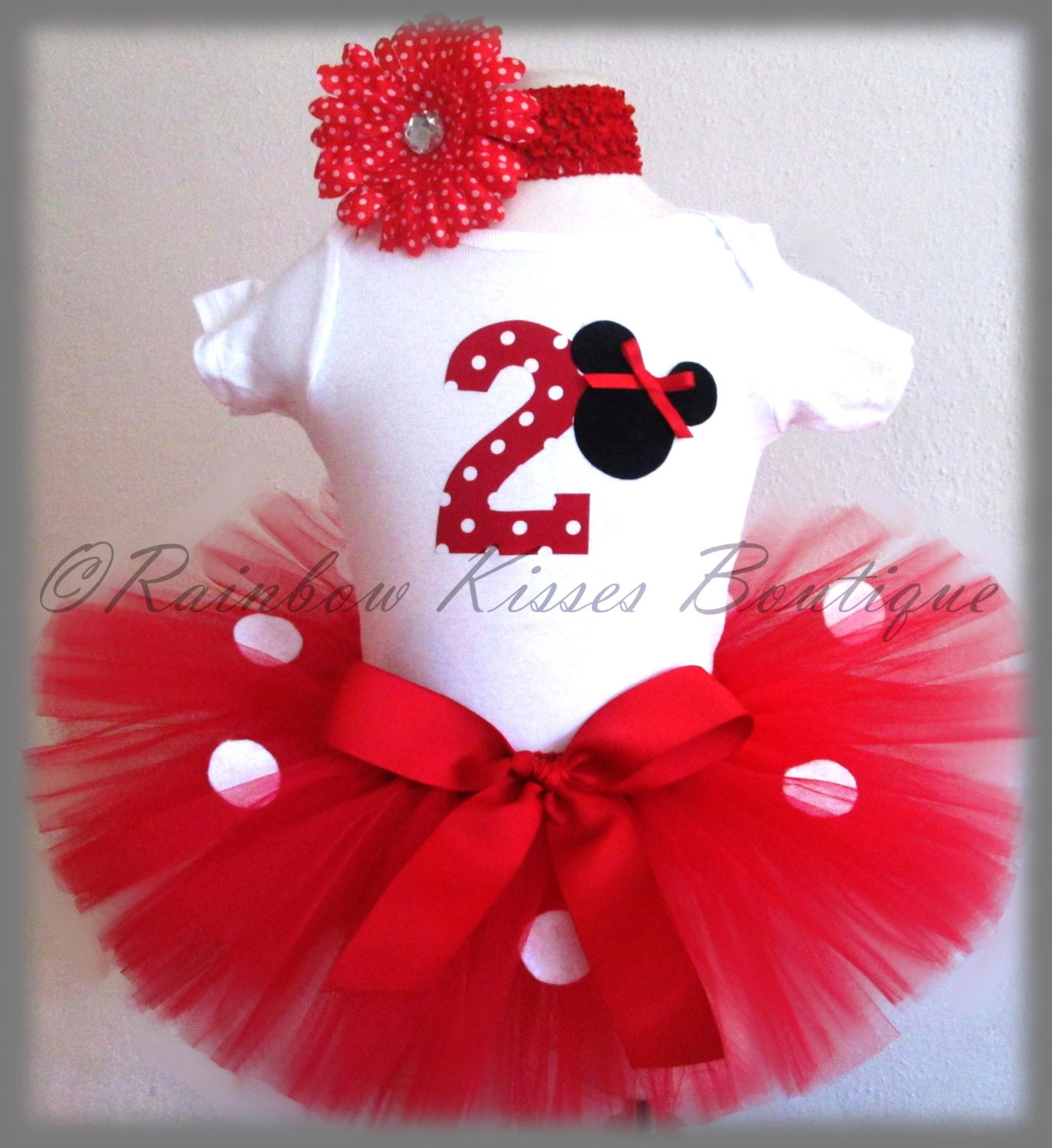 2nd Minnie Mouse Birthday Outfit Minnie Outfit By RBKBoutique