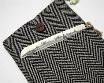 wool herringbone 17 inch laptop sleeve, laptop case 17 inch, laptop bag 17 inch, 17 inch laptop case,17, 17 inch macbook pro case, sleeve