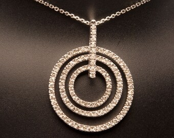 Nesting Circles Diamond Necklace