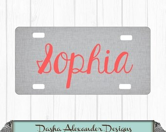 Name Linen License Plate - Personalized Car License Plate - Sweet 16 Gift for Girl - Car Tag!, Gift For Her