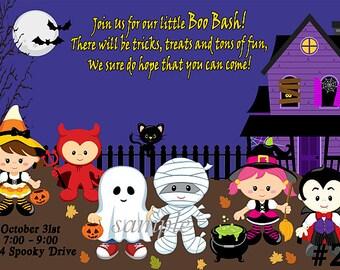 Kids Halloween Invitation, Costume Party Invitation  - Printable Digital File,  Halloween Birthday Invitation / halloween invitation