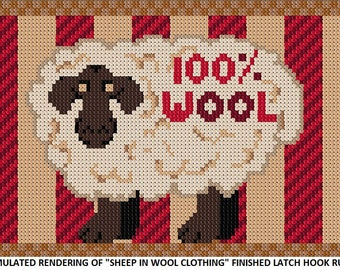 Sheep In Wool Clothing Made To Order Latch Hook Kit Or