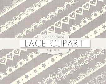 Clipart ivory lace borders, clip art lace, lace border, digital lace border, ivory digital border, lace digital, border lace