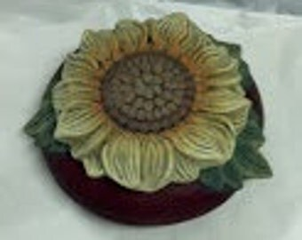 Small Sunflower Ceramic Dish