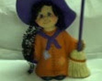 Ceramic Dress Up Witch Girl
