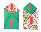 Reusable Sandwich Wrap PDF Pattern - Reversible kids sandwich sleeve
